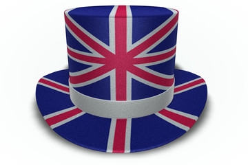 Great Britain Flag Top Hat