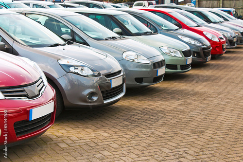 Fototapeta Row of different used cars