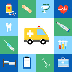Set of medical flat icons