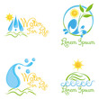 Set Of Abstract Nature Icons Isolated