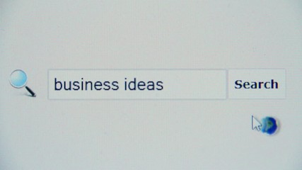 Business ideas - browser search query, Internet web page