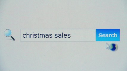 Christmas sales - browser search query, Internet web page