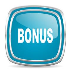 bonus blue glossy icon