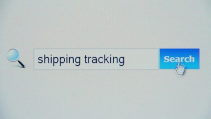 Shipping tracking - browser search query, Internet web page