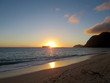 Early Morning Sunrise on Waimanalo Beach over Rabbit Island burs