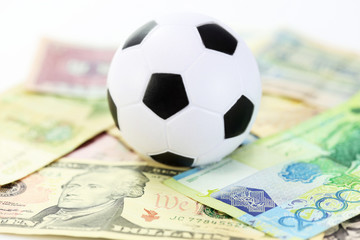 football and money soccer betty concept