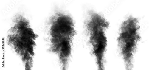 Set of steam looking like smoke isolated on white - 65446950