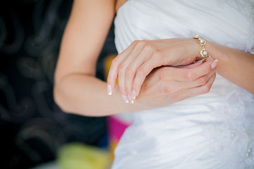 Bride's hands with ring