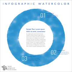 Infographics Vector Background Watercolor Ring