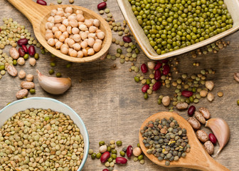 Background of various legumes