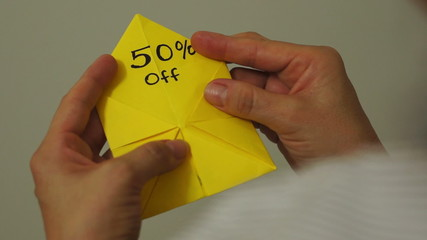 Origami Game Discount 50 Percent