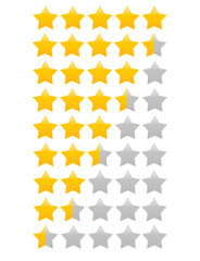 Star rating with half star increments