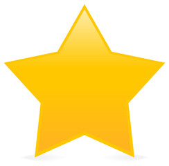 Yellow star design element