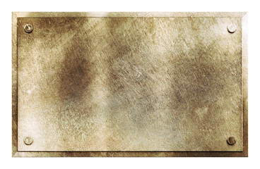 Rustic brass metal sign texture