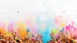 canvas print picture - Colorful life - holi party