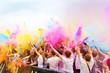 Leinwanddruck Bild - Colors on holi party