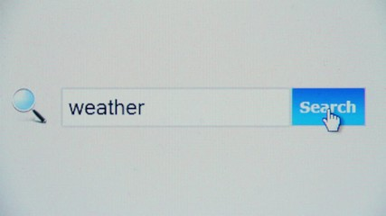Weather - browser search query, Internet web page