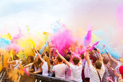canvas print picture Colors on holi party