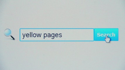 Yellow pages - browser search query, Internet web page