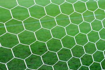 close up soccer nets goal football
