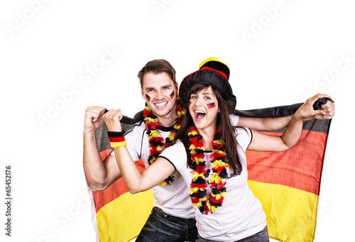 Freude bei deutschen Fans