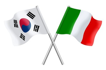 Flags : South Korea and Italy