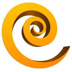 3D Spiral, Twirl, Swoosh  icon, emblem