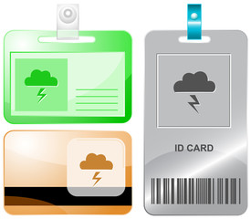 Storm. Vector id cards.