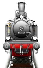 Dampflokomotive freigestellt