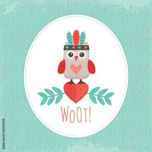 cute hipster owlet mint - 65454528