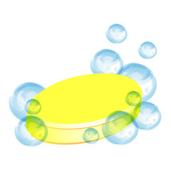 yellow soap and bubble