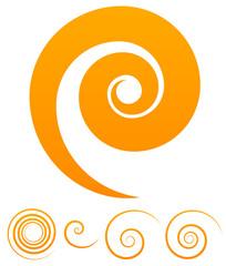 Spiral, Twirl, Swoosh, Vortex vector illustration