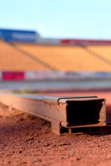 Steel on the track stadium