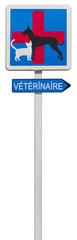 panneau indication clinique vétérinaire