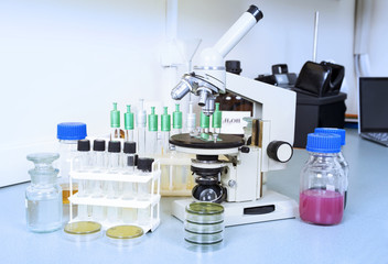 Laboratory equipment. Laboratory concept.