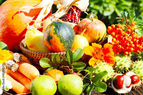canvas print picture Früchte des Herbstes