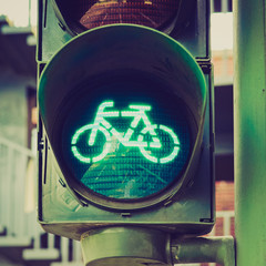 Retro look Green light