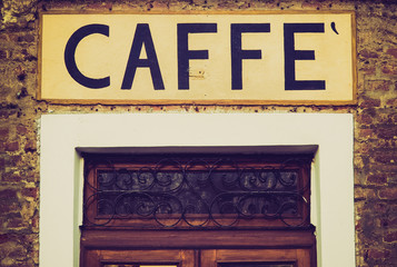 Retro look Caffe sign