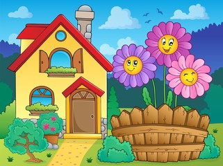 House and flowers 2