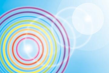壁紙(七色・レインボー・虹の輪)