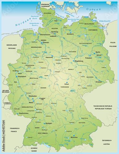 Karte von Deutschland - 65457364