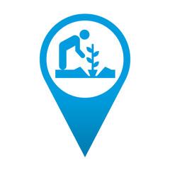 Icono localizacion simbolo jardinero