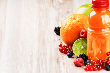 Multivitamin juice and fresh fruits
