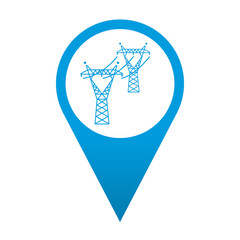 Icono localizacion simbolo alta tension
