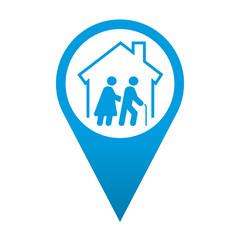 Icono localizacion simbolo residencia de ancianos