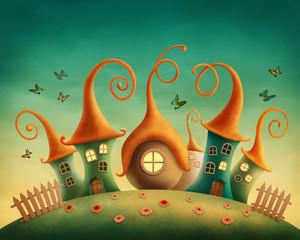 Fantasy houses © Elena Schweitzer