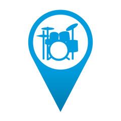 Icono localizacion simbolo bateria