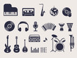musical instruments icons set - 65459154