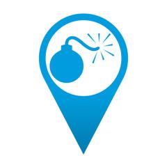 Icono localizacion simbolo bomba