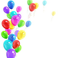 background of balloons